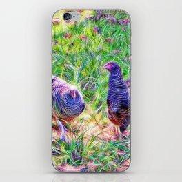 Hens in a field iPhone Skin