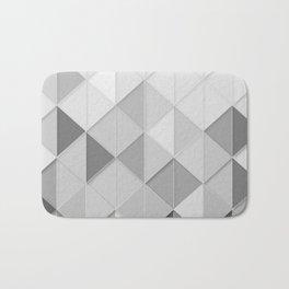Black and White Geometric Retro Bath Mat