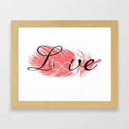 Infinite love Framed Art Print