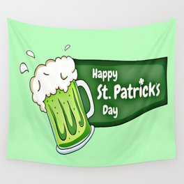 Happy St. Patricks Day Beer Wall Tapestry