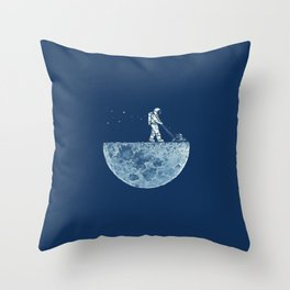 Space walk Throw Pillow
