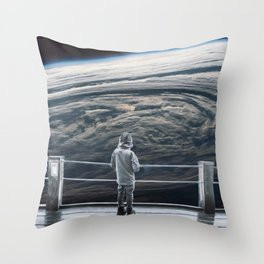 Looking back at earth ... Throw Pillow