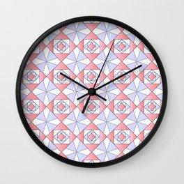 symetric patterns 71 -mandala,geometric,rosace,harmony,star,symmetry Wall Clock