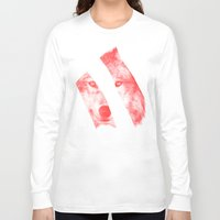 eric fan Long Sleeve T-shirts featuring Red - by Eric Fan and Garima Dhawan  by Eric Fan