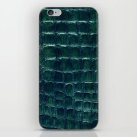 crocodile iPhone & iPod Skins featuring crocodile by clemm