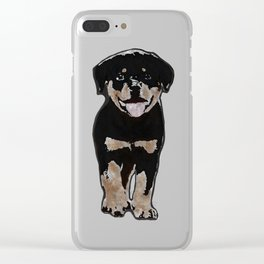 Rottweiler Love Clear iPhone Case