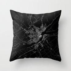 Quebec map Canada Throw Pillow