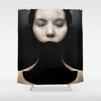 the lights Shower Curtains featuring Lights by OhMyGod!
