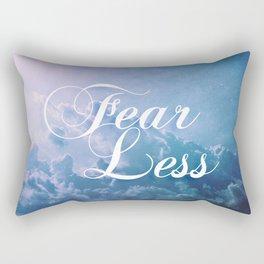 Fearless in a beautiful cloudy sky Rectangular Pillow