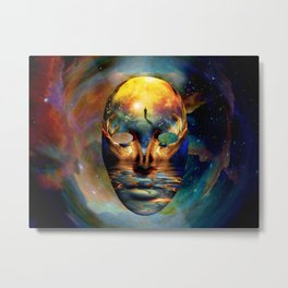Space Mask Metal Print