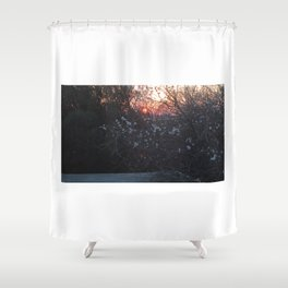 white flowers are going to sleep Shower Curtain
