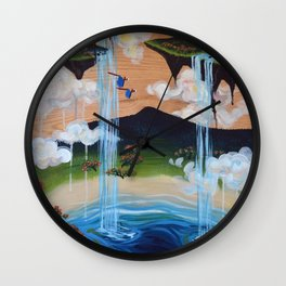 Costa Rican Lagoon Wall Clock