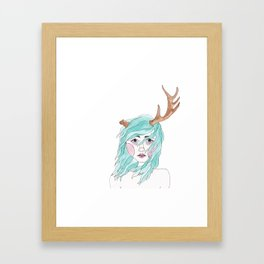 Antler Framed Art Print