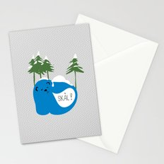 party animals - norwegian bear Stationery Cards