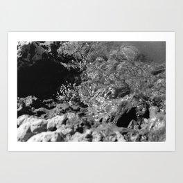 Breaking Shore Art Print