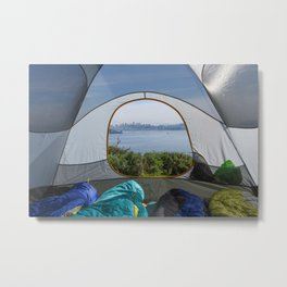 Downtown San Francisco from the tent Metal Print