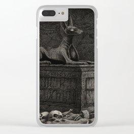 Anubis Shrine Clear iPhone Case