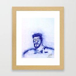 blue man  Framed Art Print