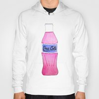 coke Hoodies featuring Pink Coke by Shellsea Art