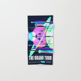 The Grand Tour : Vintage Space Poster Cool Hand & Bath Towel