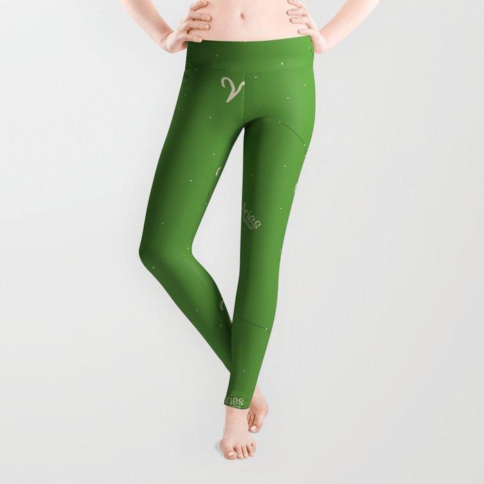 Aries Pattern - Green Leggings