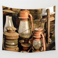 lanterns Wall Tapestries featuring lanterns by Lisa Carpenter