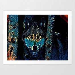Blue Lobo by KC Krimsin Art Print