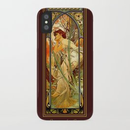 Vintage Art Nouveau - Alphonse Mucha iPhone Case