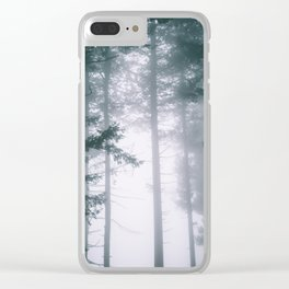 Moody Forest II Clear iPhone Case