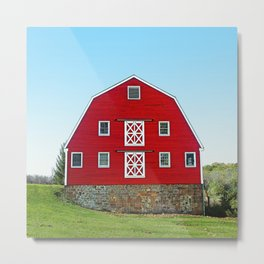 Pretty Red Dairy Barn Metal Print