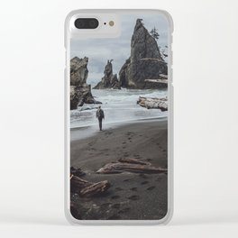 Olympic Coastline Clear iPhone Case