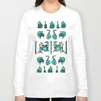 the mortal instruments Long Sleeve T-shirts featuring Jazz instruments by what the ostrich