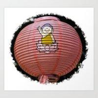 korean Art Prints featuring Korean Lamp by Benedict Middleton