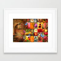 buddha Framed Art Prints featuring buddha  by mark ashkenazi