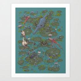 Lily Pad Marsh Art Print