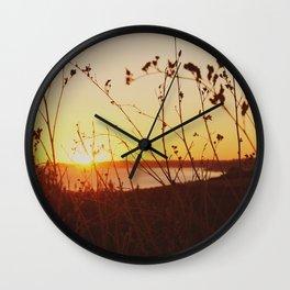Sunset at Dana Point Wall Clock