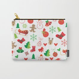 Happy New Year and Christmas Symbols Decoration Carry-All Pouch