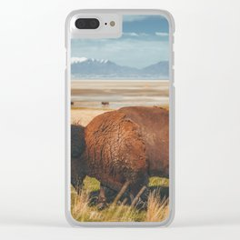 Wild Bison Utah Nature Clear iPhone Case