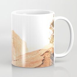 rocky mountain with strong sunlight at Zion national park, USA Coffee Mug