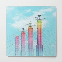 Bartle Hall in Rainbow Metal Print