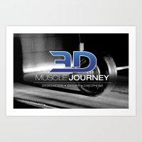 "3DMJ ""VINTAGE"" V.2 Art Print"