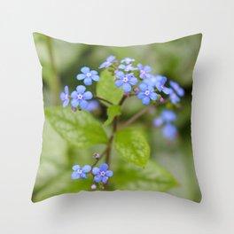 Alittle Blue Throw Pillow