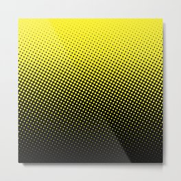 Halftone in Black and Yellow :) Metal Print