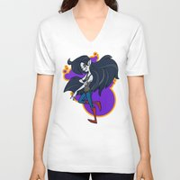 marceline V-neck T-shirts featuring Marceline by Silvering