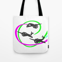 Aerobatic planes  Vivid Vapor trails Tote Bag