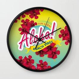 Aloha Beach Vibes I Wall Clock