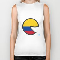 colombia Biker Tanks featuring Colombia Smile by onejyoo