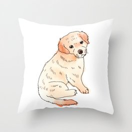 Copper Puppy Throw Pillow