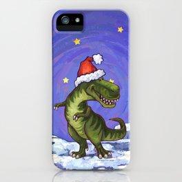 Tyrannosaurus Christmas iPhone Case