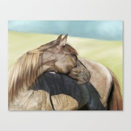 Horse Painting Canvas Print